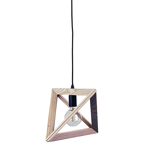 Zander Lighting Trap Wooden Pendant Light