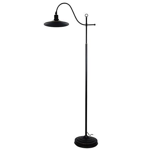 Zander Lighting Boston Rubbed Bronze Floor Lamp
