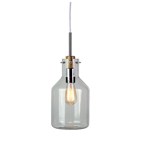 Zander Lighting 17cm Holbeck Scandinavian Glass Pendant Light