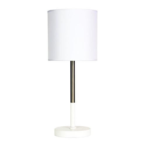 Zander Lighting White & Brass Corda Table Lamp