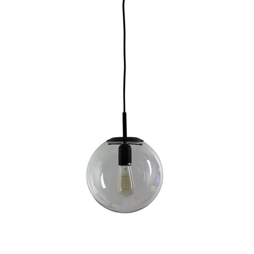 Oriel lighting newton contemporary clear glass pendant light