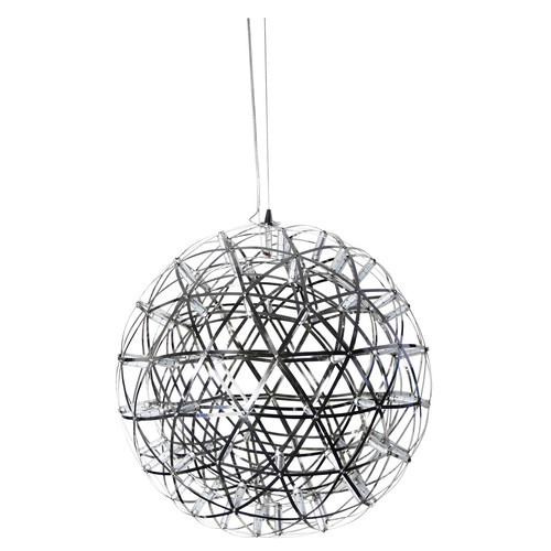 Zander Lighting Spatial LED Stainless Steel Pendant Light