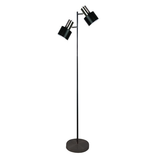 Zander Lighting Black Pluto Twin Floor Lamp