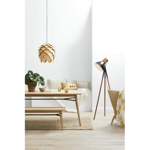 Zander Lighting Natural Avezzano Wooden Pendant