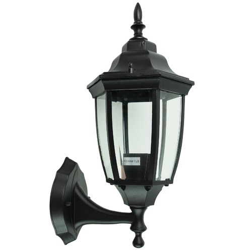 Oriel Lighting Highgate Up Exterior Wall Light in Black