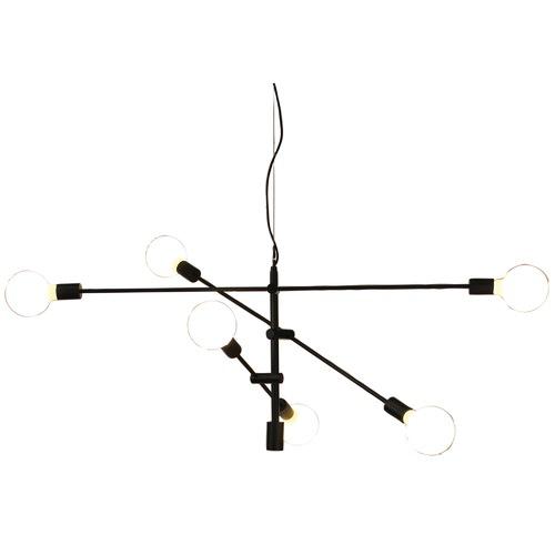 Oriel Lighting Black Chelsea Modern Pendant Light