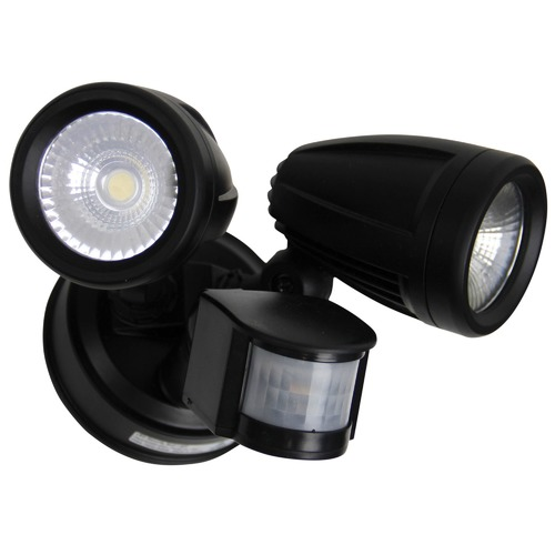 Oriel Lighting Black Escort Sensor LED Outdoor Flood Light