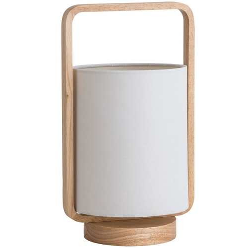 Oriel Lighting Lucia Timber & Cotton Table Lamp