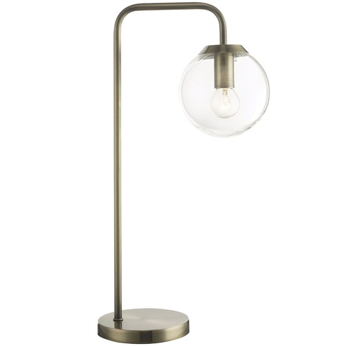 Oriel Lighting Clear Newton Contemporary Glass Table Lamp