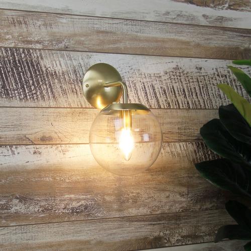 Zander Lighting Ruano Glass & Steel Wall Light