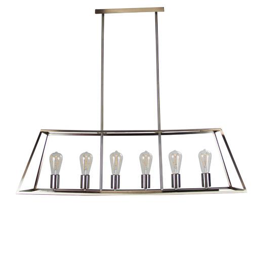 Zander Lighting Reuten 6 Light Steel Pendant
