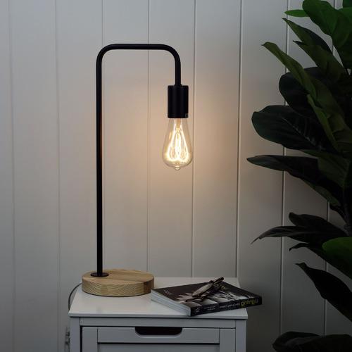 Zander Lighting Valle D'Aosta Wooden Table Lamp
