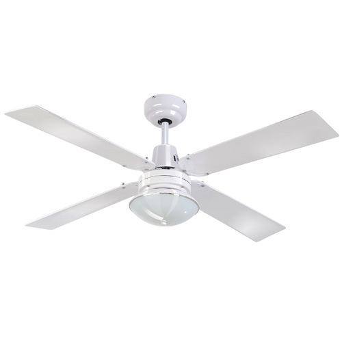 Heller 120cm Ceiling Fan with Oyster Light & Remote Control