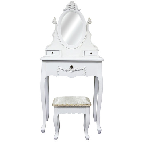 Bouquet House Dressing Table with Princess Mirror & Stool