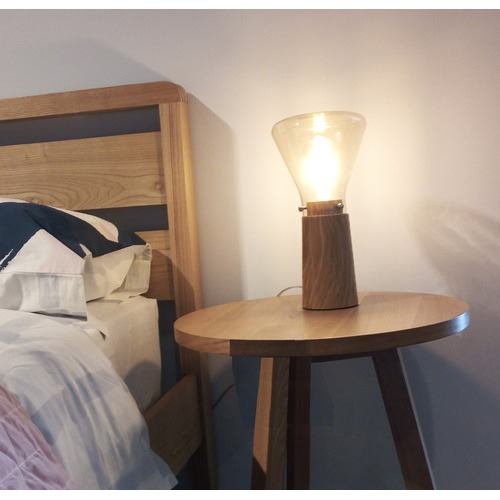 DV Lighting Tonia Oak Wood Table Lamp