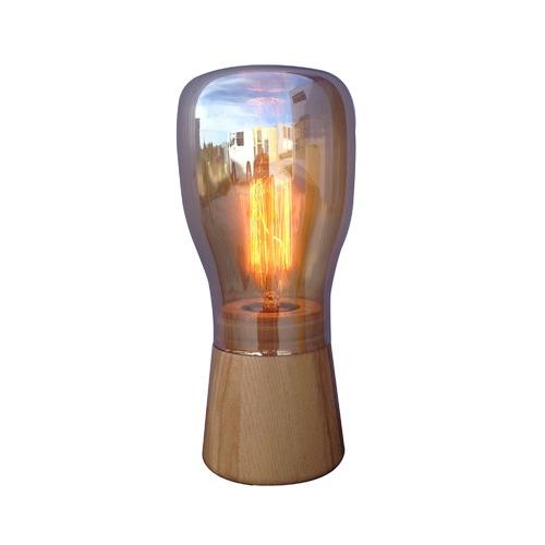 DV Lighting Tiara Oak Wood Table Lamp