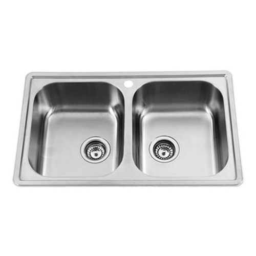 Sterling Prestige Double Bowl Inset Sink in Satin