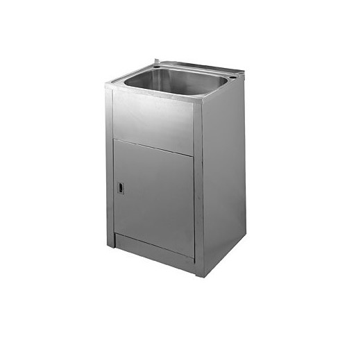 50cm laundry tub and stainless steel cabinet compact