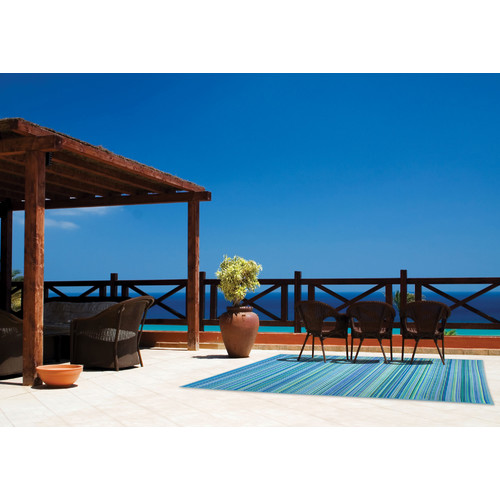 Home & Lifestyle Cancun Aqua Outdoor Rug