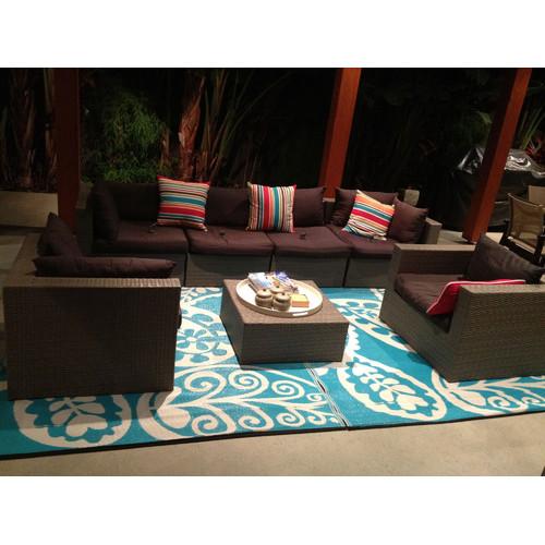 Home & Lifestyle Paisley Aqua Rug In River Blue & Reviews