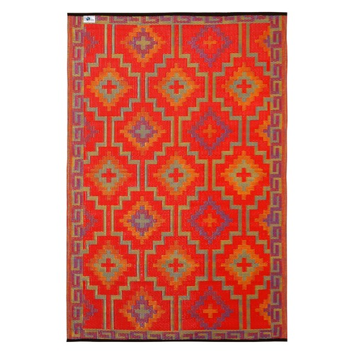 Home & Lifestyle Lhasa Orange and Violet Rug