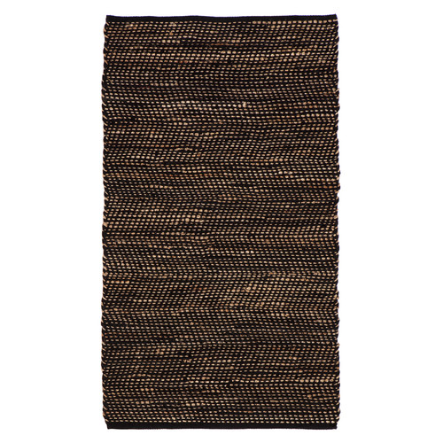 Home & Lifestyle Ibis Black Cotton And Jute Rug