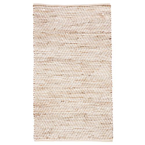 Home & Lifestyle Ibis White Cotton And Jute Rug
