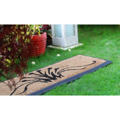 Home & Lifestyle Swirls Rubber Border Doormat
