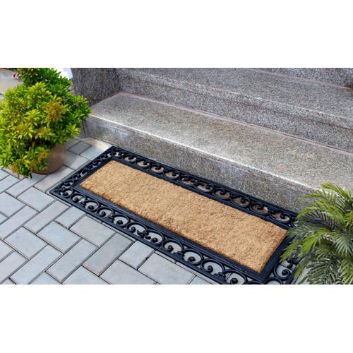 Home & Lifestyle Vista Rubber Border Doormat