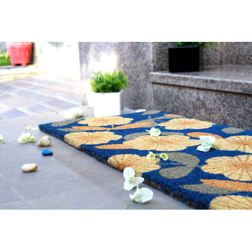 Home & Lifestyle Floral PVC Backed Doormat