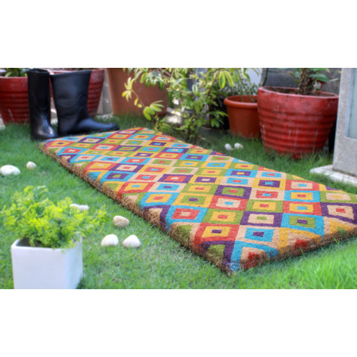 Home & Lifestyle Multi-Coloured Saman Coir Doormat