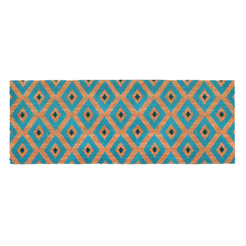 Home & Lifestyle Blue Kimberley PVC Backed Doormat