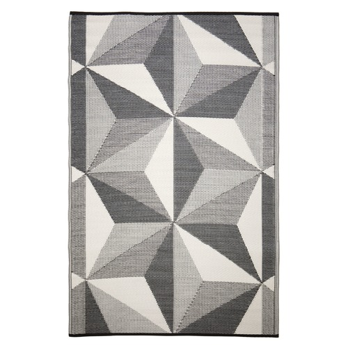 Home & Lifestyle Grey Geo Star Glacier Outdoor Rug