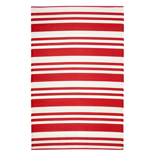 Home & Lifestyle Red & White Cherai Outdoor Rug
