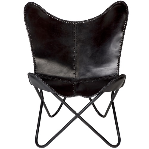 Home & Lifestyle Monarch Leather Butterfly Chair