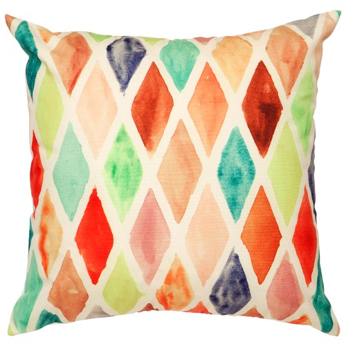 Home & Lifestyle Yellow Diamond Outdoor Cushion