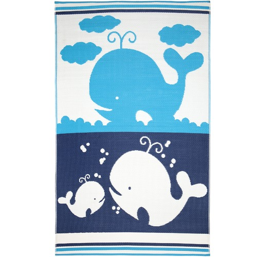 Home & Lifestyle Blue & White Little Portico Family Rug