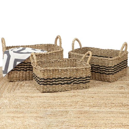 Home & Lifestyle 3 Piece Palash Jute Basket Set