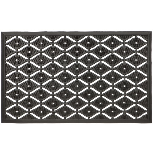 Home & Lifestyle Black & White Asa Rubber Doormat