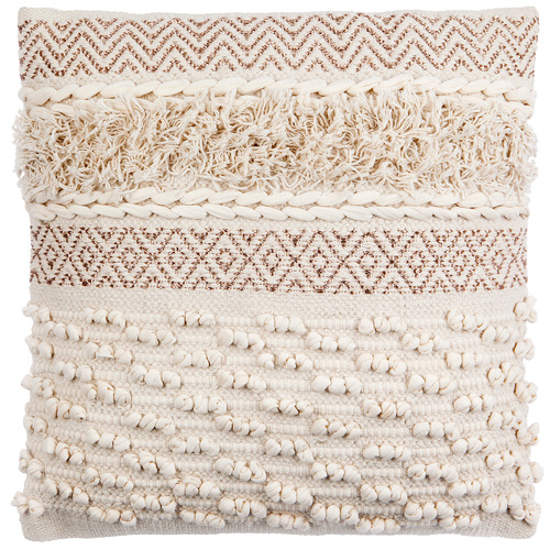 Home & Lifestyle Beige Indus Cotton Cushion