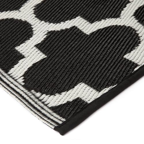 Home & Lifestyle Black & White Tangier Trellis Outdoor Rug