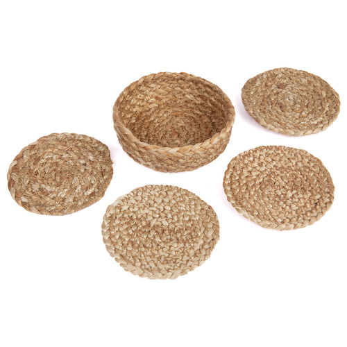 Home & Lifestyle Natural Willow Jute Coasters