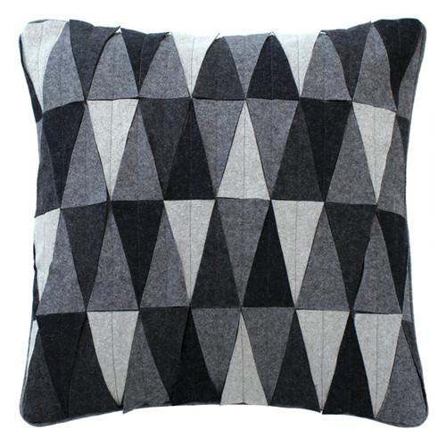 Triangle Mix Applique Cushion