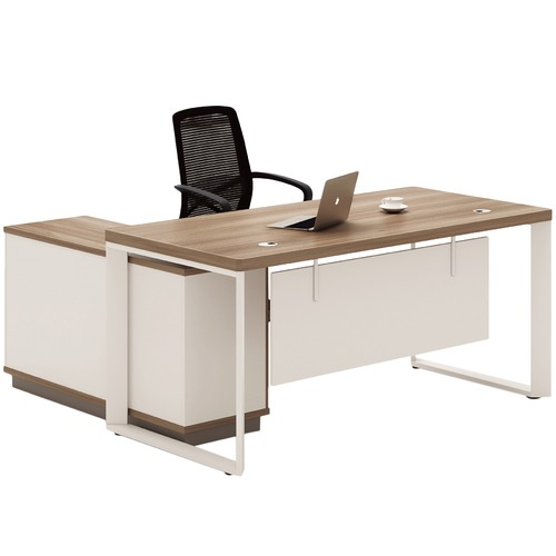 Light Walnut Harvey Reversible Executive Desk Temple