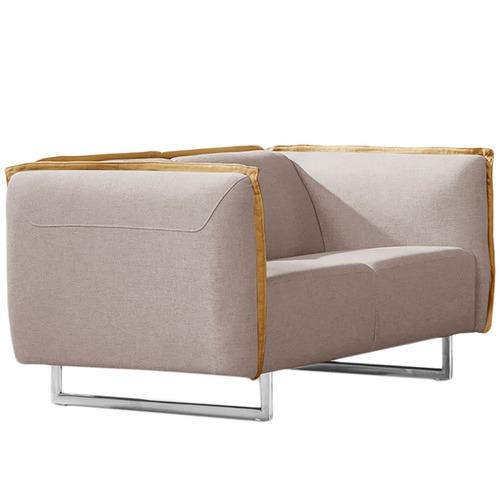 Innova Australia Grey & Yellow Penton 2 Seater Modern Sofa