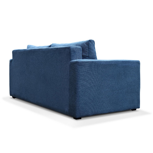 Innova Australia Blue Carmel 2 Seater Upholstered Sofa Bed