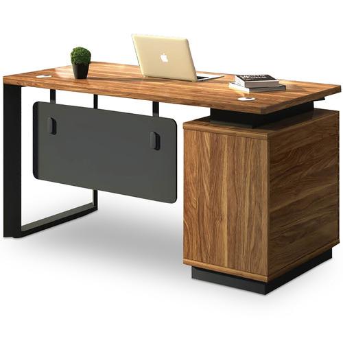Innova Australia Black & Natural Elmo Executive Desk
