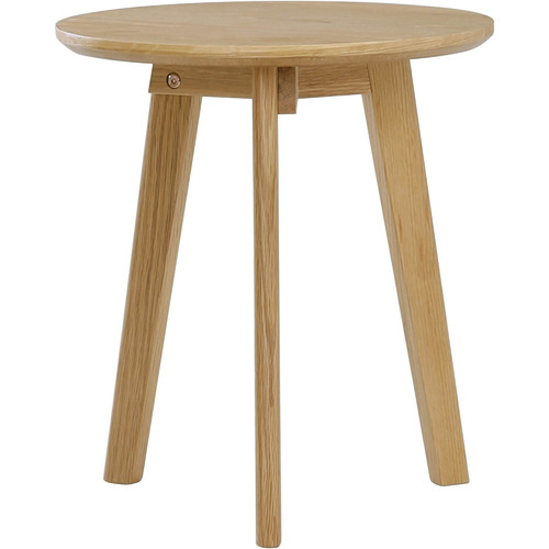 Innova Australia 3 Piece Oriel Oak Wood Side Table Set
