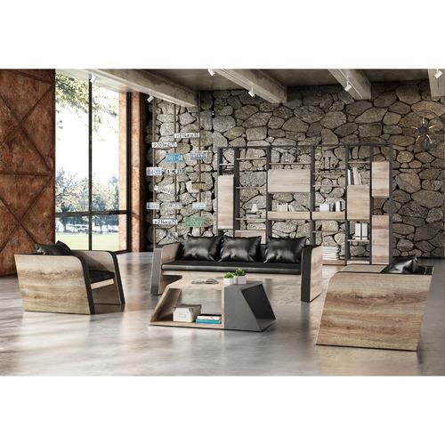 Black & Natural Franco Armchair
