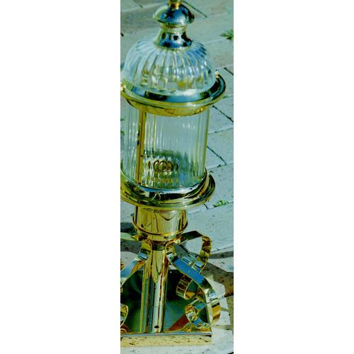 Vintage Solid Brass Pillar Light: Solid Brass Pillar Light In 24K Gold Plated